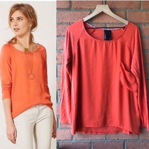 Anthropologie Dolan Brookvale Pocket Tee | Coral